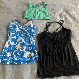Lulu Lemon athletic tops and Nike sports bra